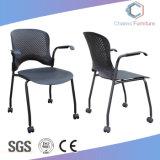 Ineinander greifen-rückseitiges Büro-Trainings-Stuhl mit Fußrollen