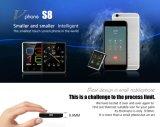 Серебр телефона первоначально телефона батареи 380mAh мобильного телефона Mtk2502 Bluetooth 4.0 экрана дюйма 2.5D мобильного телефона S8 Mtk2502 1.54 No 1 миниого миниого франтовской