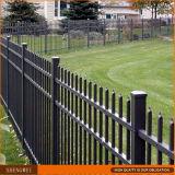 黒い機密保護の鋼鉄に管状に庭の囲うこと