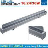 1000m m 24V/220V de aluminio 2700k-3200k calientan la arandela blanca de la pared IP65