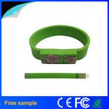 Свободно изготовленный на заказ привод вспышки полосы запястья руки USB2.0 браслета 2GB силикона логоса цветастый