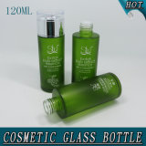 120ml 4oz Green Frosted Glass Water Bottle Facial Toner Bottle