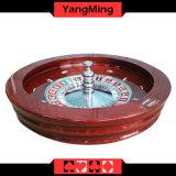 """Roda roleta da madeira contínua padrão 32 do jogo luxuoso do casino da """" dedicada para a tabela Ym-RW01 do póquer da roleta"""