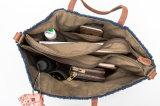 Le borse stampate dei sacchetti di spalla della tela di canapa con azo tinge liberamente per le ragazze delle donne