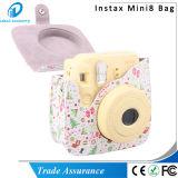 Het witte Leer Mini8 Mini8 van de Bloem Pu plus de Zak van het Geval van de Camera