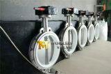 Pn16 tutto valvola a farfalla di gestione della cialda della scatola ingranaggi dell'acciaio inossidabile