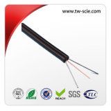 Outdoor 2 Core FTTH Cable with Self - Supporting Figure 8 Bow - Type Design and Steel Messager