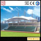 Cubierta extensible de la cortina del estadio del material para techos del pabellón del campo de fútbol de la estructura de la membrana de PVDF
