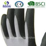 Покрытие нитрила, перчатки работы безопасности отделки Sandy (SL-NS110)