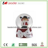 Nueva estatuilla del muñeco de nieve del globo de la nieve de la resina del diseño para el recuerdo y los regalos promocionales