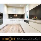 백색과 까만 매트 페인트 부엌 찬장은 Tivo-0272h를 주문 설계한다