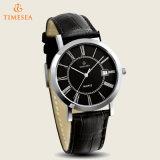 La montre-bracelet de quartz de qualité, Mens imperméabilisent la montre analogique en cuir 72436