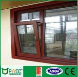 Ventana del aluminio/de aluminio de la inclinación de la vuelta con el vidrio Tempered As2047 (PNOC0121TTW)