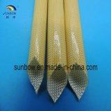 Полиуретан и Acrylic Wiith стеклоткани сопротивления жары Sleeving Coated