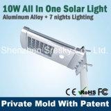 réverbère solaire de 10W DEL avec la meilleure qualité