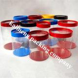 El cilindro plástico del PVC del claro de la impresión de Panton encajona al por mayor