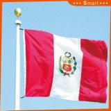 Su ordinazione impermeabilizzare e modello no. della bandiera nazionale del Perù della bandiera nazionale di Sunproof: NF-023