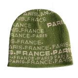 Cappello lavorato a maglia jacquard con 2 il fiocchetto (JRK085)