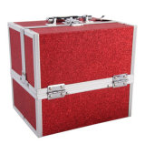 Коробка двойника изготовления открытая портативная косметическая с Multi подносами