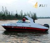 24FT de Stijl van Outboat en Jacht van de Luxe van de Cabine van de Glasvezel het Halve