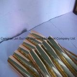 Lámina para gofrar caliente del color del oro para el rectángulo de papel