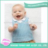 Personalizado tricotando manualmente a camisola da combinação de cor do bebê do algodão
