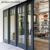 Nuevos ventana de desplazamiento francesa del diseño 2017 con color blanco revestido del polvo
