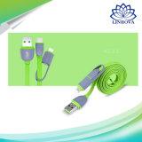8 Pin-Blitz zum USB-Kabel mit Mikro-USB-Verbinder-Ladung und Synchronisierung für iPhone, iPad, Samsung und Android