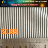 Barato poliéster tela cruzada hilados de distintos colores a rayas Traje forro de tela (S187.188)