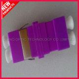 10GマルチモードOM4デュプレックスSCのタイププラスチック光ファイバすみれ色のアダプター