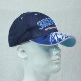 Moda Blue 6 Paneles Gorra de béisbol de algodón con bordado 3D