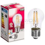 Indicatore luminoso chiaro della lampadina LED del filamento A60 4W per illuminazione domestica