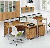 木のオフィスの区分L形のスタッフワークステーション(HX-NCD285)