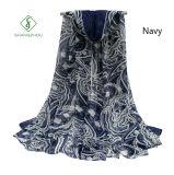 Voile gedruckte Acajoubaum-Schal-Großverkauf-Dame Fashion Scarf