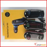 Espejo retrovisor manos libres Bluetooth Car Kit, Kit de coche Bluetooth reproductor MP3, transmisor de FM RDS Bluetooth