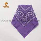 La sciarpa a buon mercato 100% del cotone di disegno di modo progetta il Bandana per il cliente quadrato