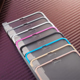 3D Full Cover Alloy Metal Frame Protector de tela de vidro temperado para iPhone
