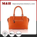Handbag有用な無地のPUによってカスタマイズされるロゴのショッピング・バッグの女性