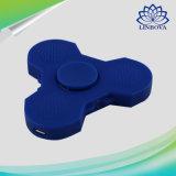 Blauer und weißer Finger-Handgeschenk-Unruhe-Spinner des Plastikled heller mit Bluetooth Lautsprecher