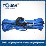 Cuerda sintetizada del torno del cable UHMWPE del torno con el gancho de leva, dedal, una funda protectora del contador