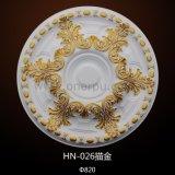 Het Medaillon van de Rozet van het polyurethaan voor Medaillon hn-026 van het Plafond van de Plafondventilator Pu