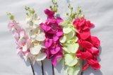 결혼식 훈장을%s 실크 인공 꽃 나방 난초 가짜 꽃