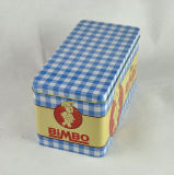 Kundenspezifischer rechteckiger Metallplätzchen-Zinn-Kasten, Plätzchen-Blechdose, Biskuit-Zinn-Kasten