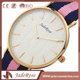 Reloj de señoras impermeable del cuarzo del acero inoxidable de la manera
