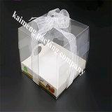 Vakjes van het Pakket van de Gift Cupcake van het Huisdier van het Ontwerp van de luxe de Duidelijke Plastic met het Tussenvoegsel van het Document (cupcake doos)