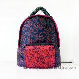 hohe Modedesigner-Dame Cotton Flower Printing Backpack (NMDK-060801)