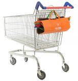 Kundenspezifische Gewebe-Förderung-nichtgewebte faltende Supermarkt-Laufkatze-Einkaufstasche
