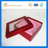Коробка дух твердого картона нестандартной конструкции бумажная упаковывая (с подносом ткани сатинировки внутренним)