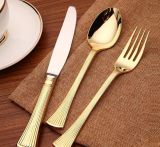 日本食料理店テーブルウェア金の平皿類セット