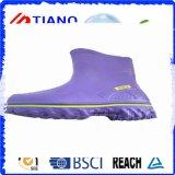 Bottes de pluie en PVC confortables en couleur pourpre pour Lady (TNK60034)